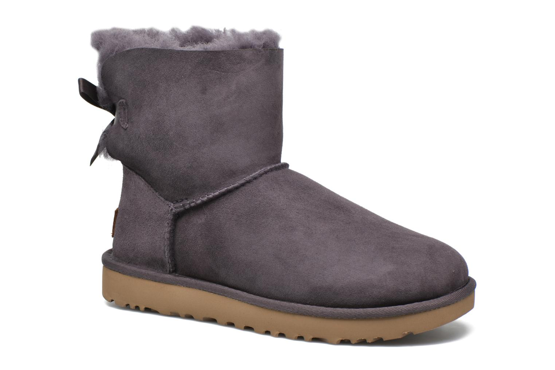 Bottines et boots UGG W Mini Bailey Bow II Violet vue détail/paire