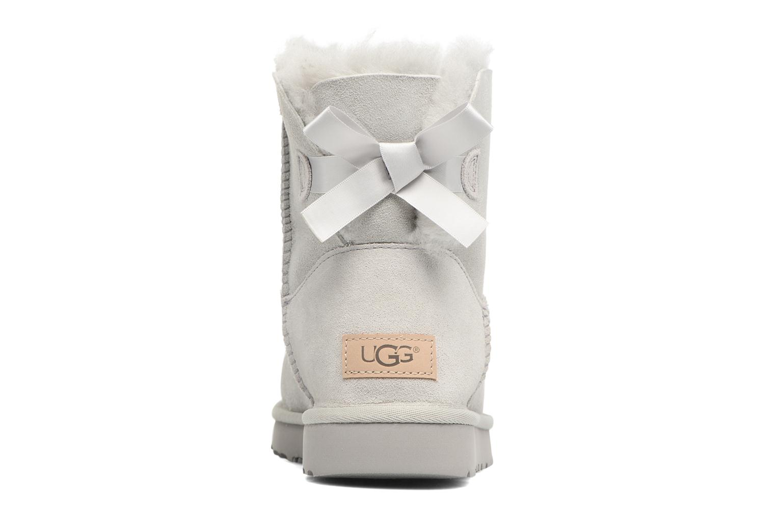 Botines  UGG W Mini Bailey Bow II Gris vista lateral derecha
