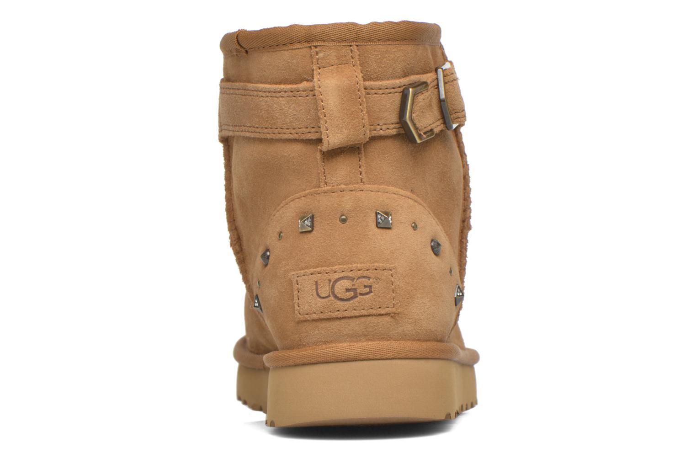 Bottines et boots UGG W Neva Deco Studs Marron vue droite