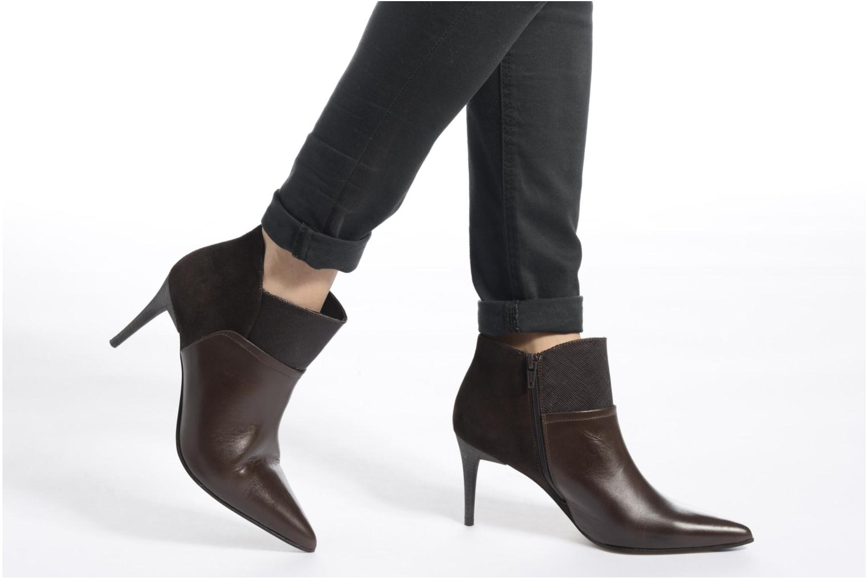 Ankle boots Elizabeth Stuart Lebrac 536 Brown view from underneath / model view