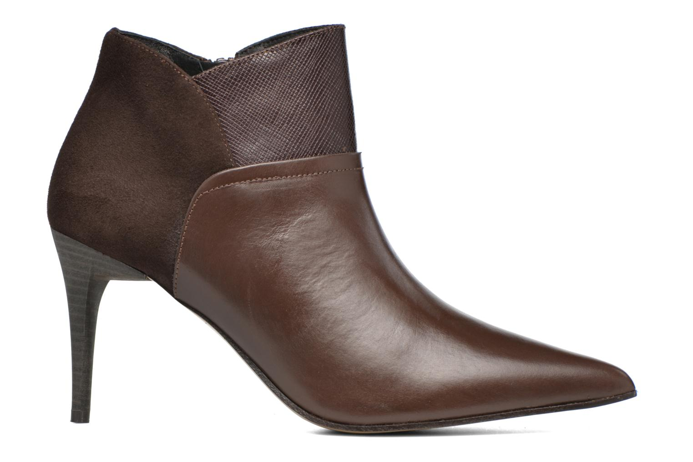 Ankle boots Elizabeth Stuart Lebrac 536 Brown back view