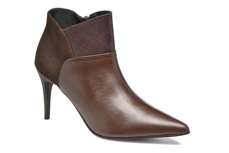 Ankle boots Elizabeth Stuart Lebrac 536 Brown detailed view/ Pair view