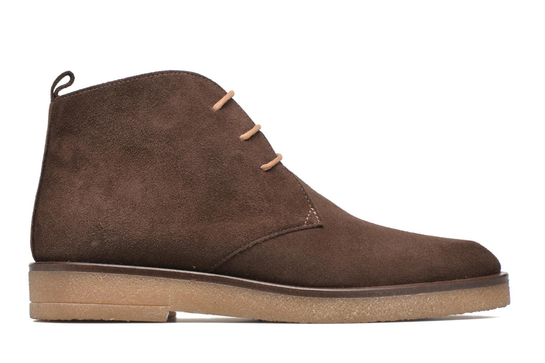 Lace-up shoes Elizabeth Stuart Volta 334 Brown back view