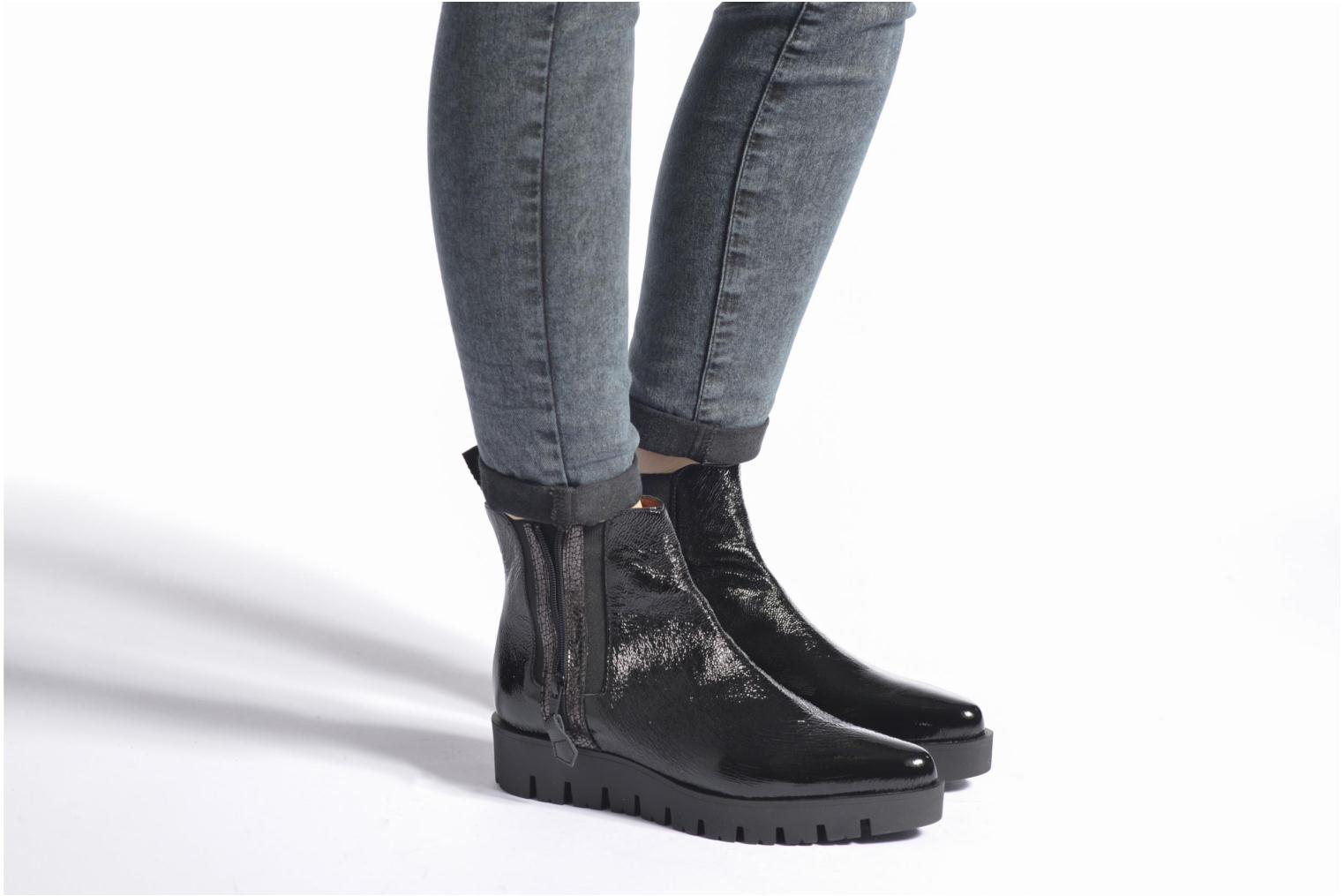 Ankle boots Elizabeth Stuart Mirot 505 Black view from underneath / model view