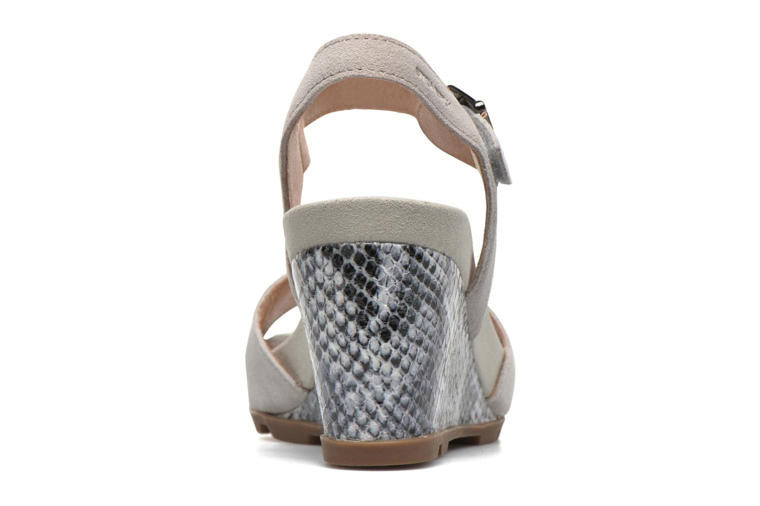 Sandals Stonefly Anita 1 Velour Grey view from the right