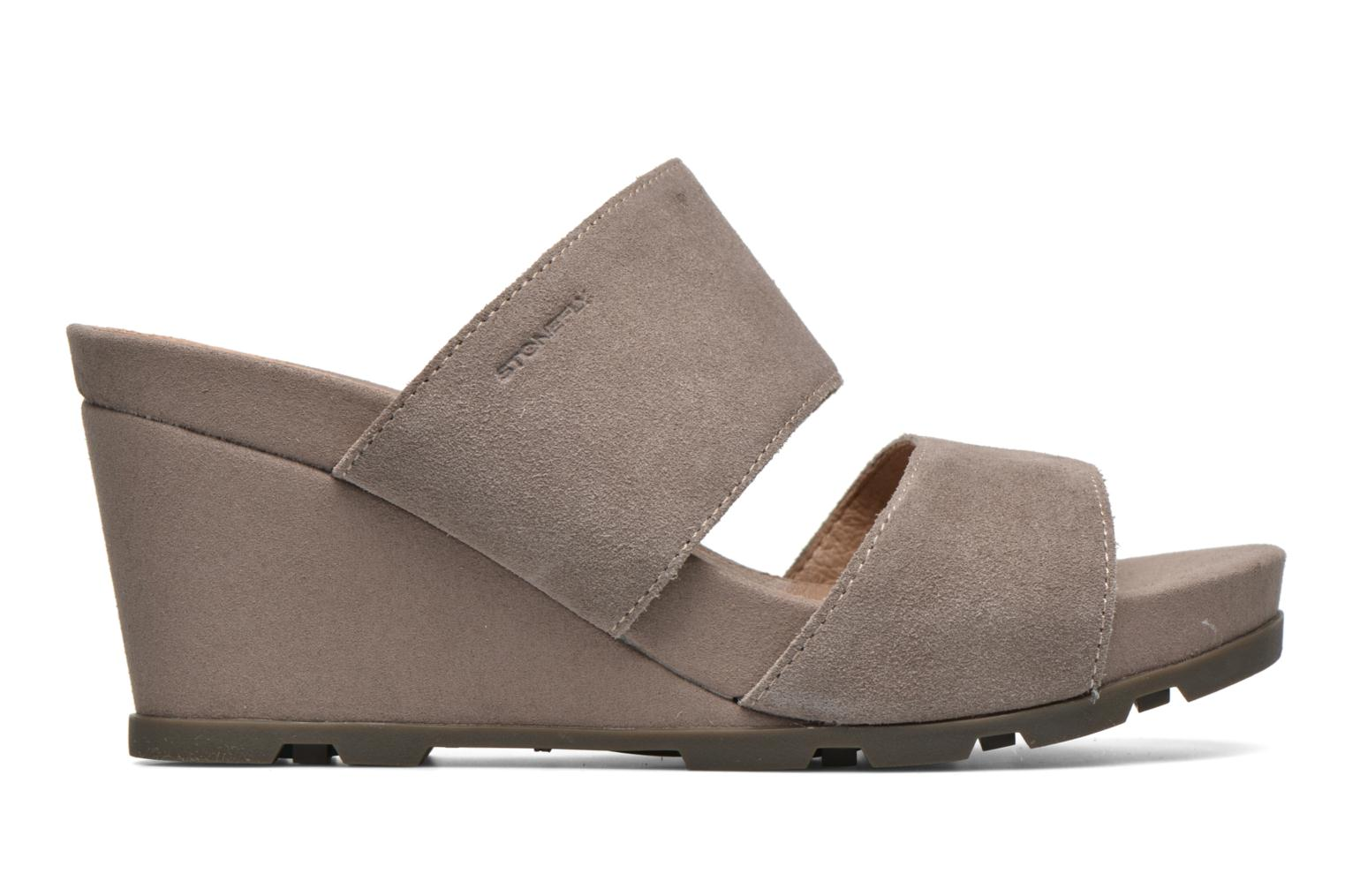 Mules & clogs Stonefly Anita 2 Velour Grey back view