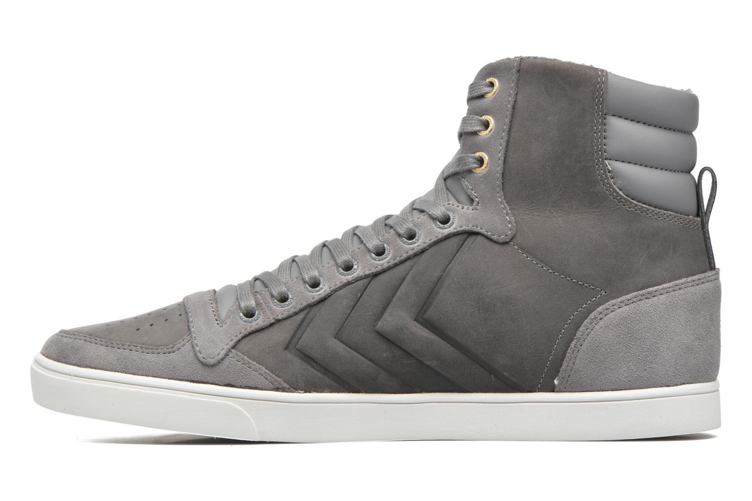 Trainers Hummel Ten Star Mono Oiled High Grey front view