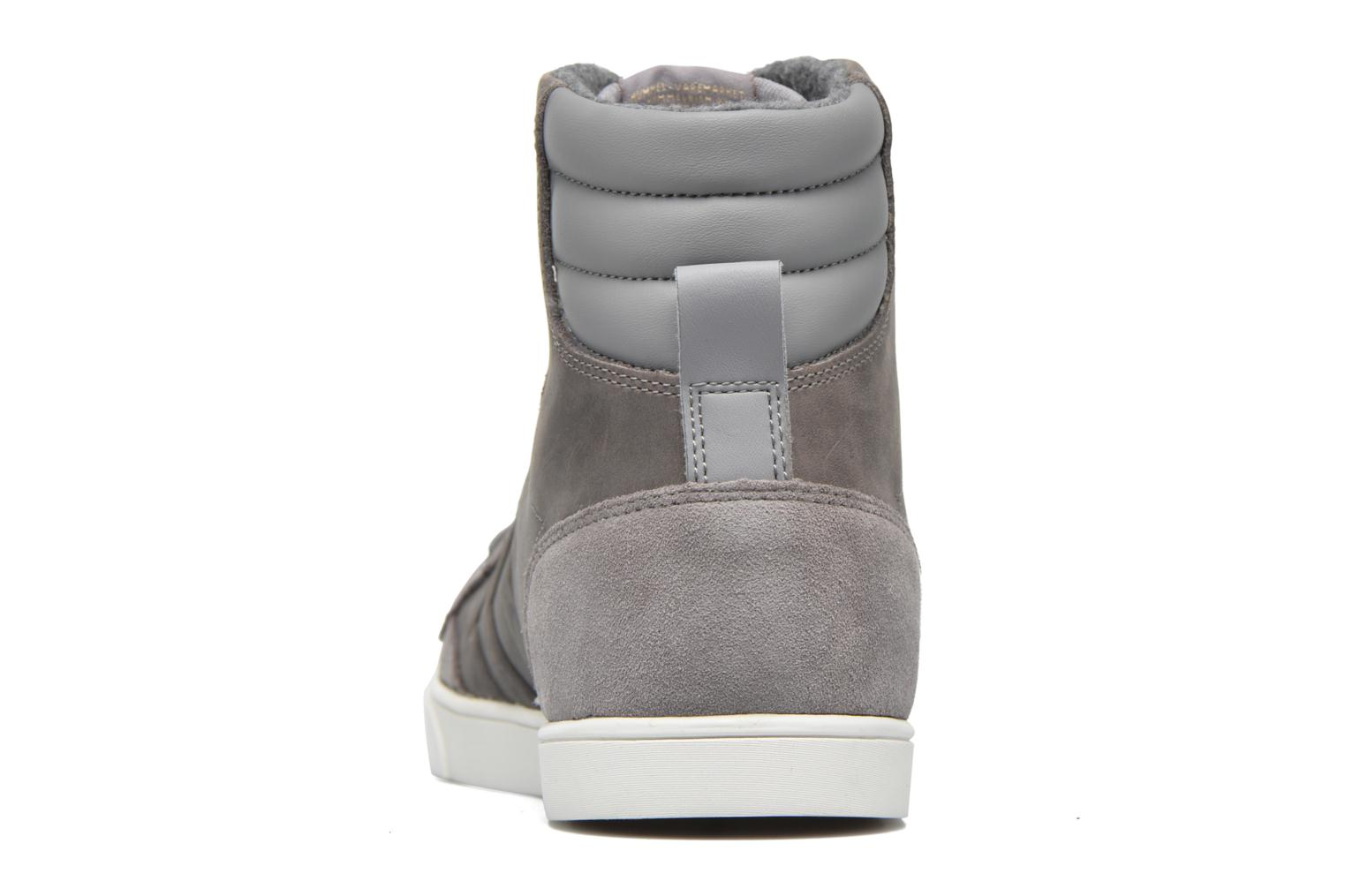 Trainers Hummel Ten Star Mono Oiled High Grey view from the right
