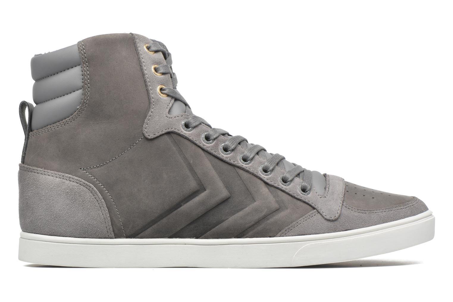 Trainers Hummel Ten Star Mono Oiled High Grey back view