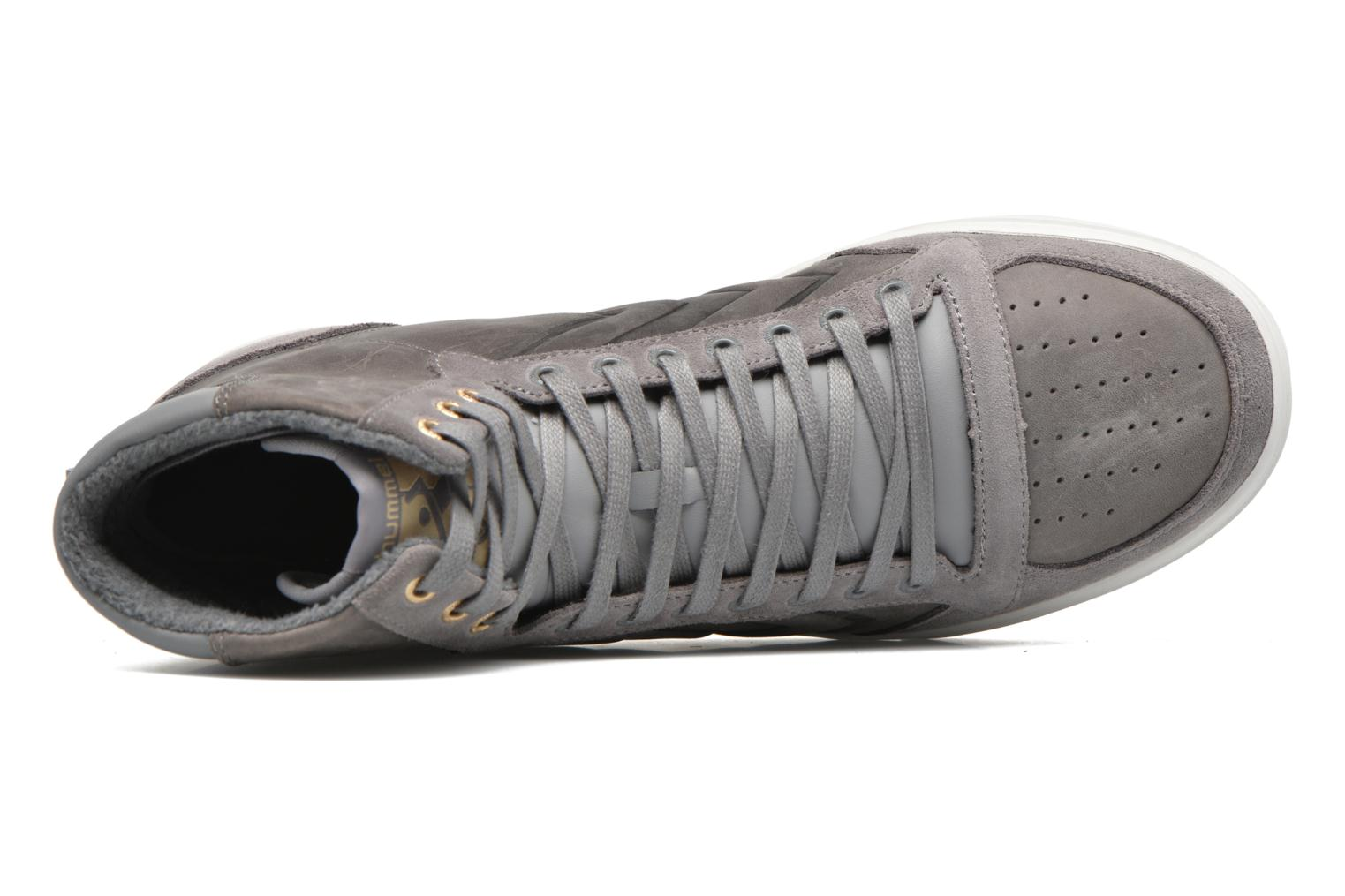 Trainers Hummel Ten Star Mono Oiled High Grey view from the left