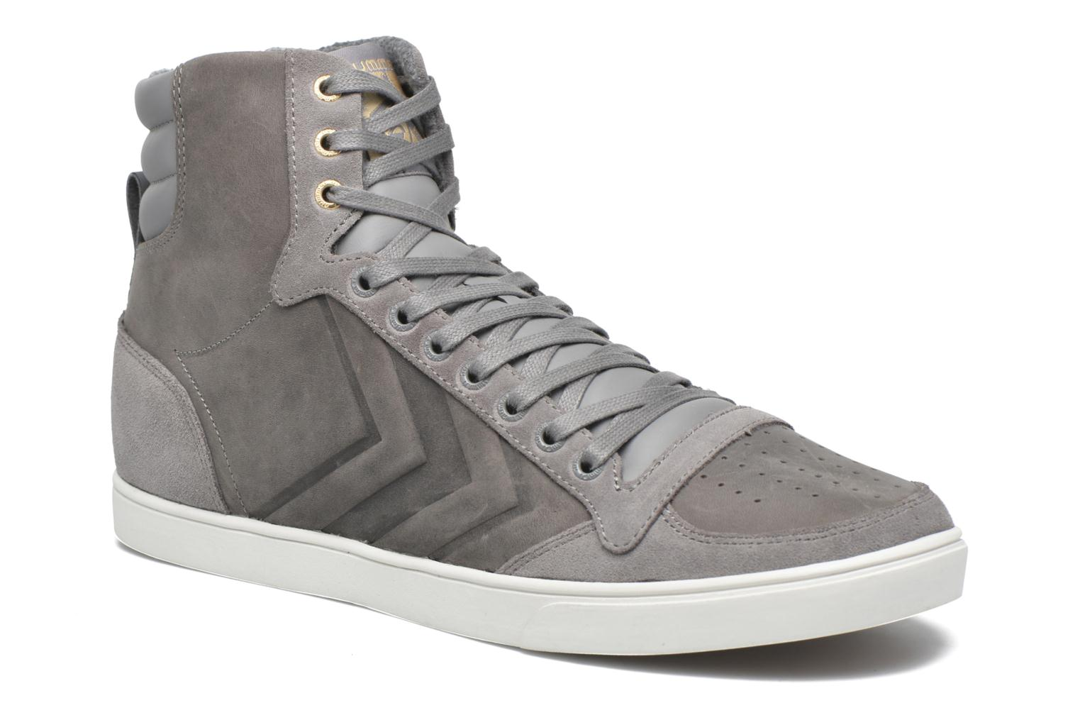 Trainers Hummel Ten Star Mono Oiled High Grey detailed view/ Pair view