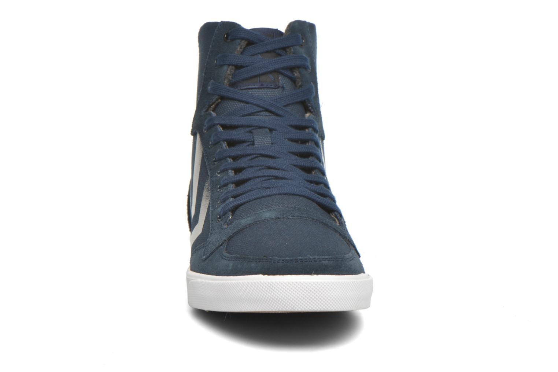 Baskets Hummel Ten Star Smooth Canvas High Bleu vue portées chaussures