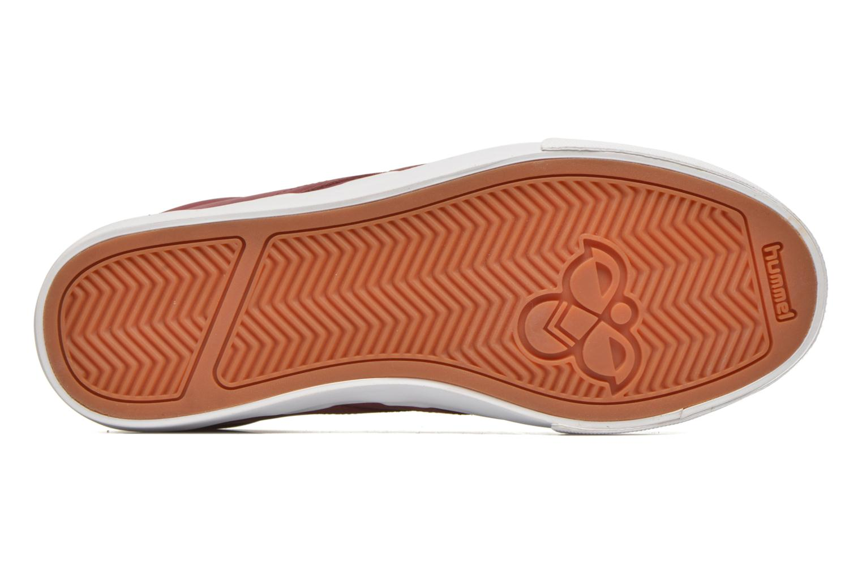 Deportivas Hummel Baseline Court Leather Vino vista de arriba