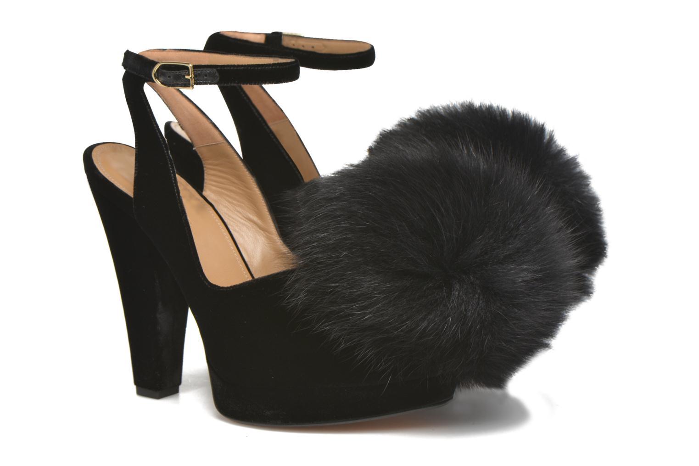 Zapatos de tacón Sonia Rykiel Plateforme Pompon Negro vista 3/4