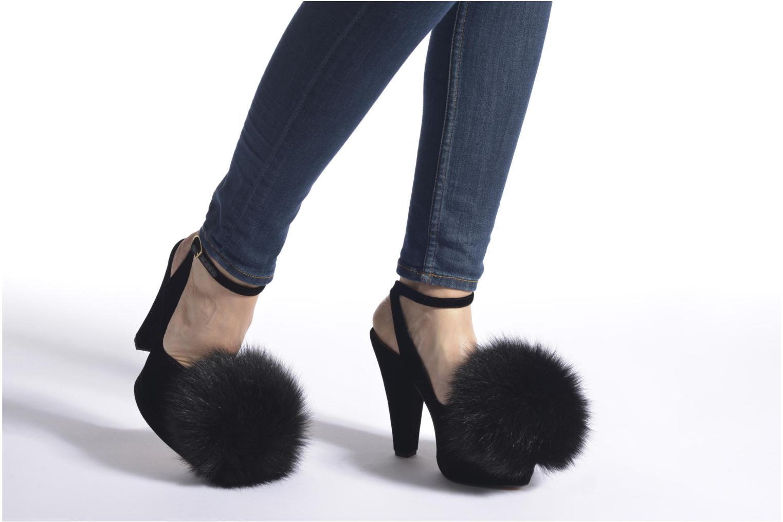 Zapatos de tacón Sonia Rykiel Plateforme Pompon Negro vista de abajo