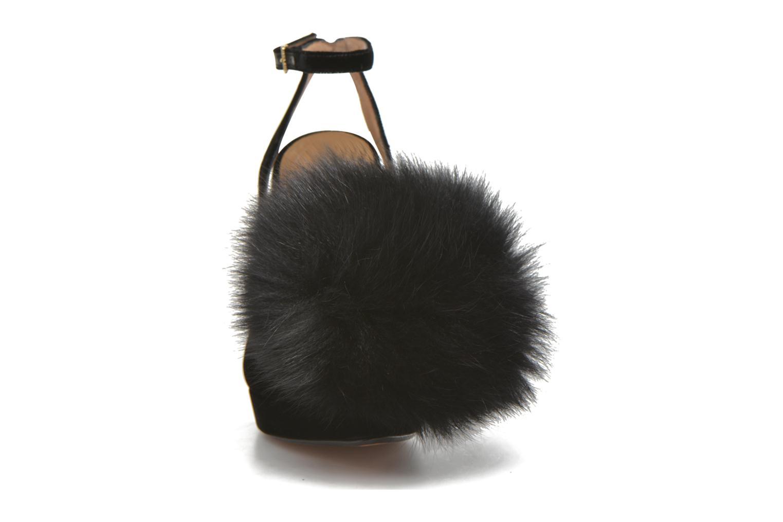 Zapatos de tacón Sonia Rykiel Plateforme Pompon Negro vista del modelo