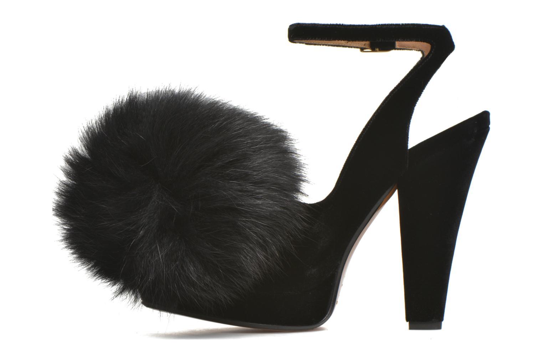 Zapatos de tacón Sonia Rykiel Plateforme Pompon Negro vista de frente