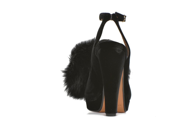 Zapatos de tacón Sonia Rykiel Plateforme Pompon Negro vista lateral derecha