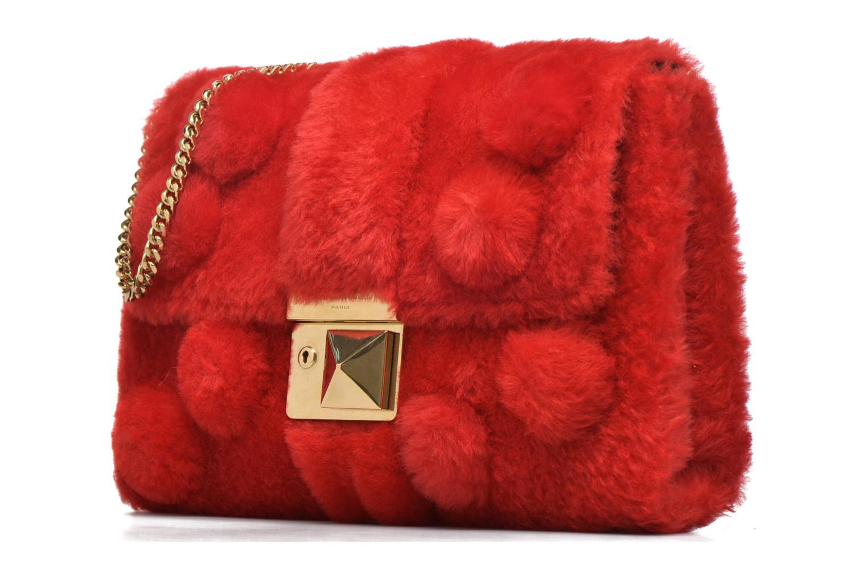 Handbags Sonia Rykiel LE LUCO MATELASSE Porté travers Red model view