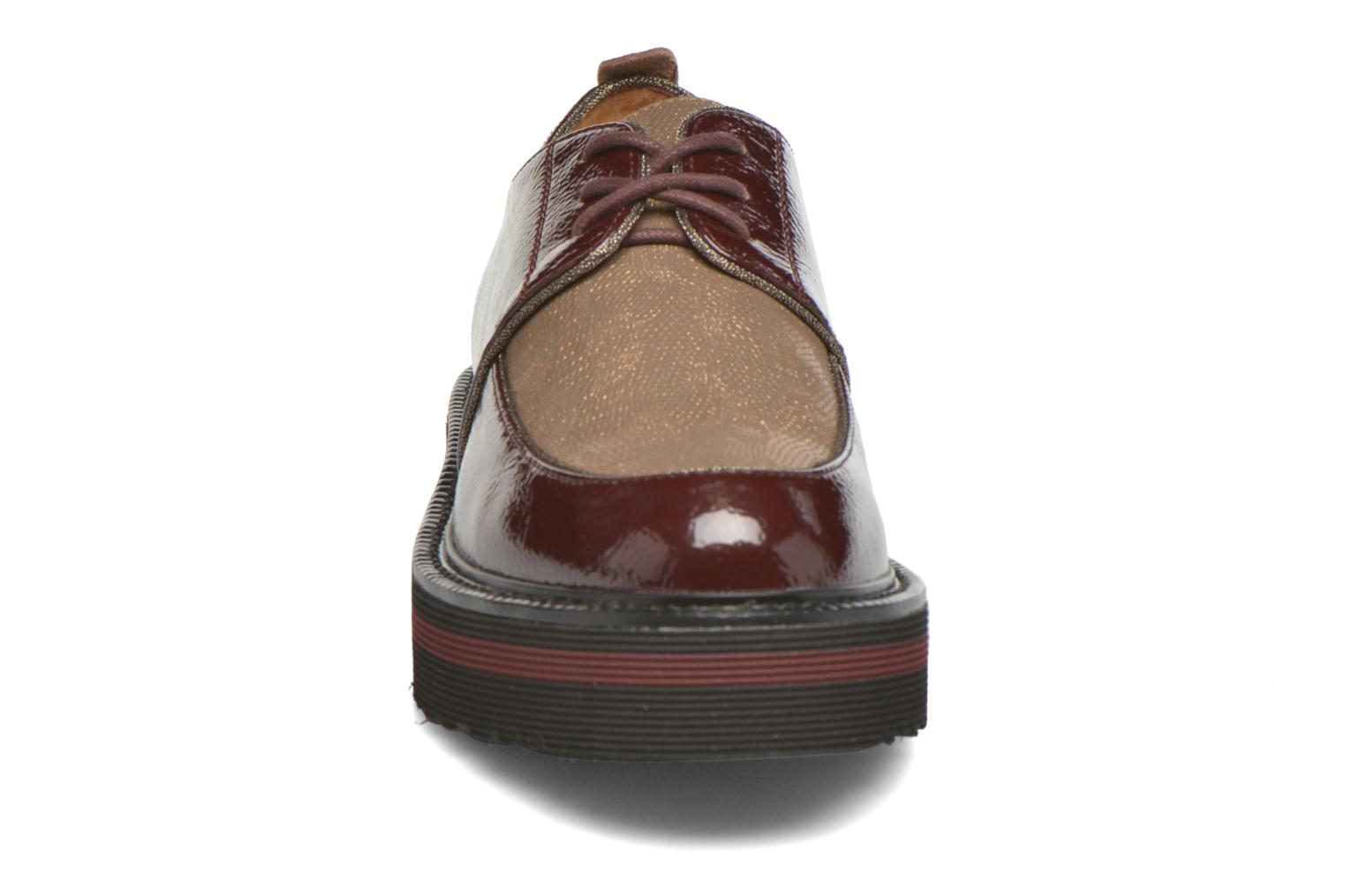 Lace-up shoes No Name Blow Derby Crease / Skin Burgundy model view
