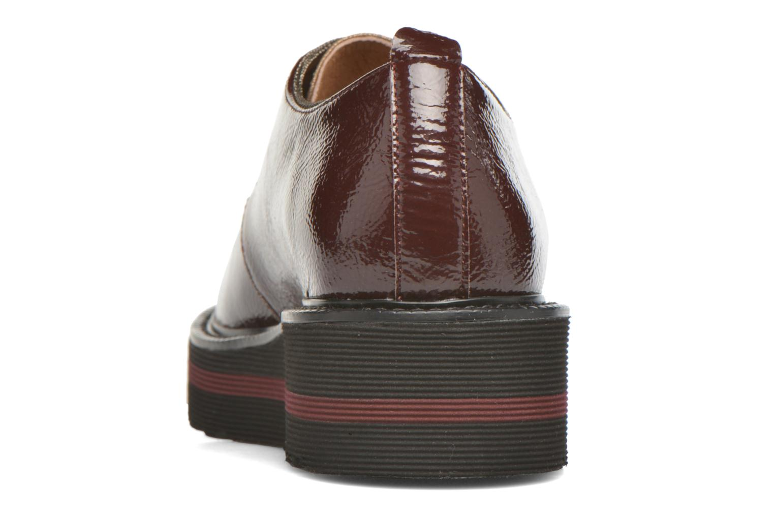 Lace-up shoes No Name Blow Derby Crease / Skin Burgundy view from the right