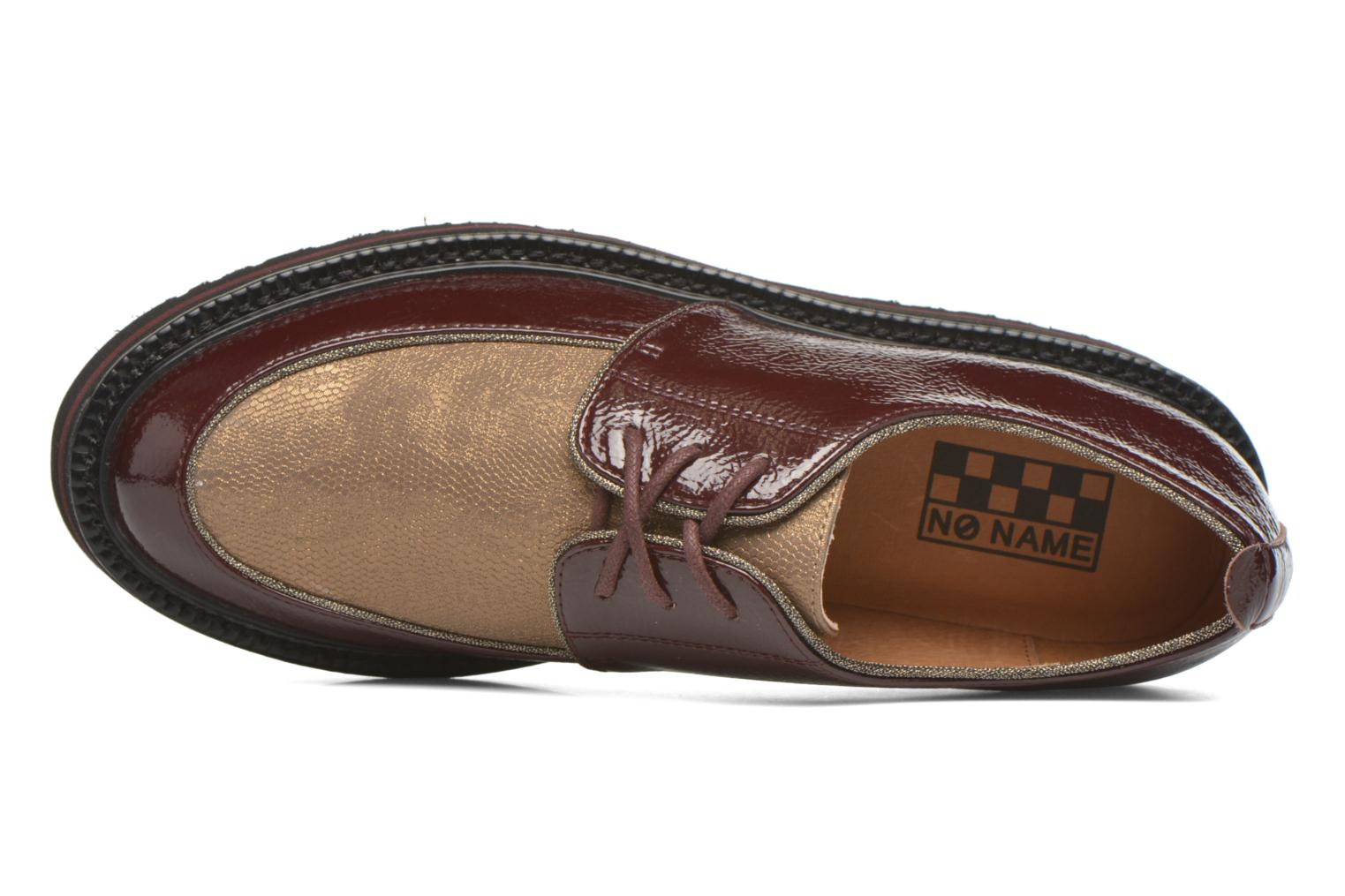 Lace-up shoes No Name Blow Derby Crease / Skin Burgundy view from the left