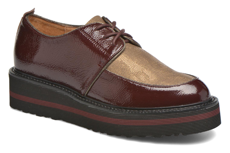 Chaussures à lacets No Name Blow Derby Crease / Skin Bordeaux vue détail/paire