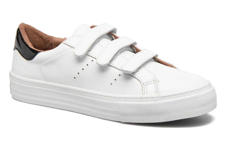 Baskets No Name Arcade Velcro Altezza Leather Blanc vue détail/paire
