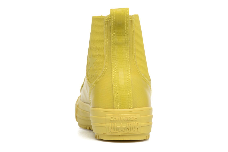Baskets Converse Ctas Chelsea Boot Rubber Hi Jaune vue droite
