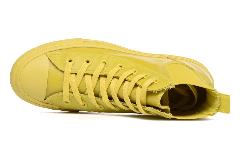 Baskets Converse Ctas Chelsea Boot Rubber Hi Jaune vue gauche