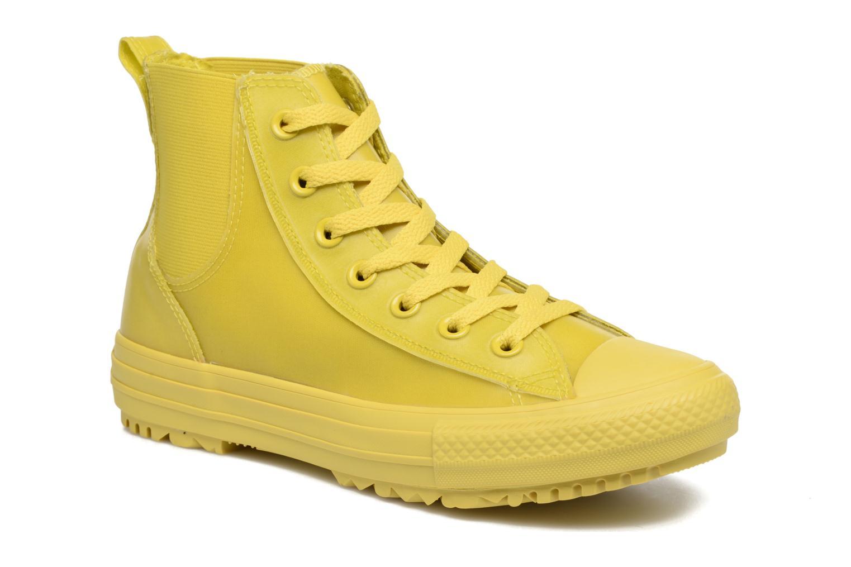 Baskets Converse Ctas Chelsea Boot Rubber Hi Jaune vue détail/paire
