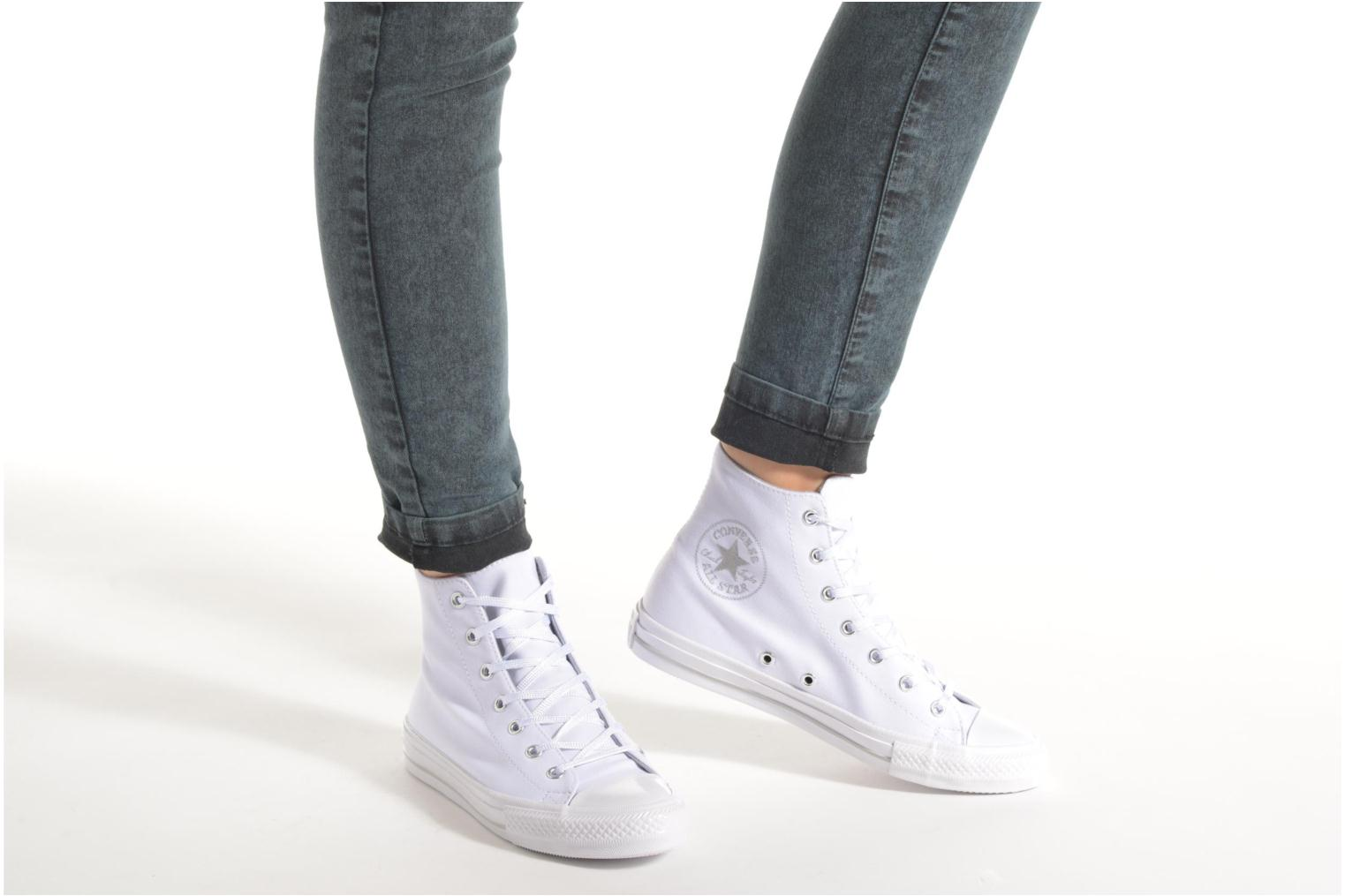 Trainers Converse Chuck Taylor All Star Gemma Twill Hi Grey view from underneath / model view