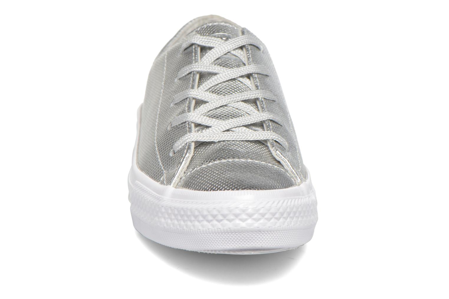 Trainers Converse Ctas Gemma Diamond Foil Leather Ox Silver model view