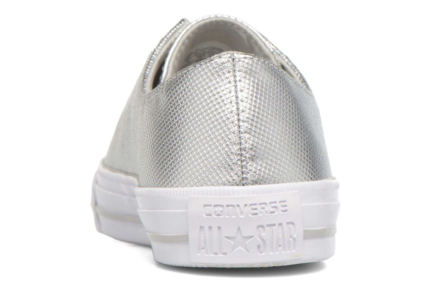 Deportivas Converse Ctas Gemma Diamond Foil Leather Ox Plateado vista lateral derecha