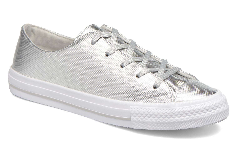 Converse Ctas Gemma Diamond Foil Leather Ox Silver