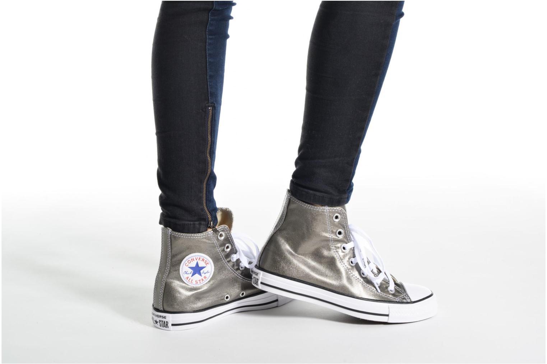 Sneaker Converse Chuck Taylor All Star Hi Metallics W grün ansicht von unten / tasche getragen