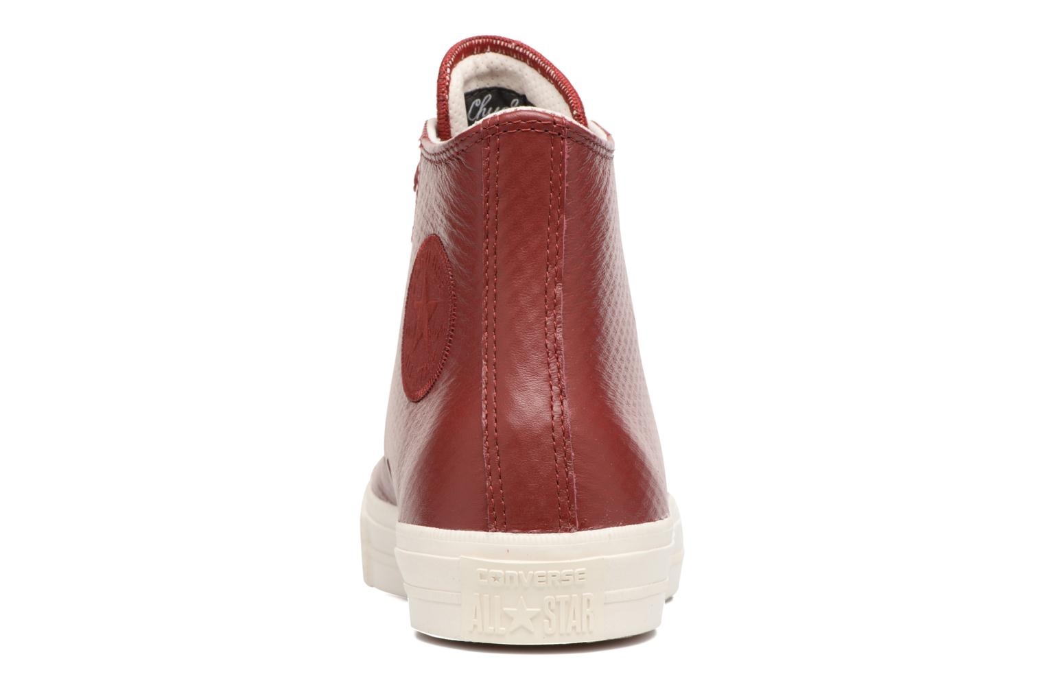 Baskets Converse Chuck Taylor All Star II Mesh-Backed Leather Hi M Bordeaux vue droite