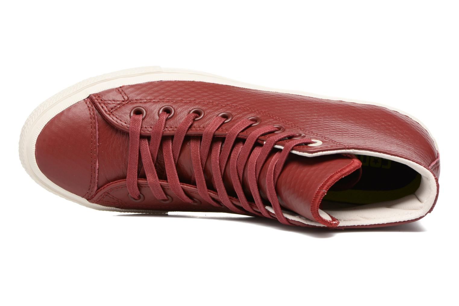Chuck Taylor All Star II Mesh-Backed Leather Hi M Red Block/Parchment/Gum