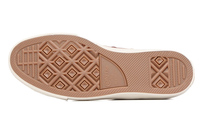 Sneakers Converse Chuck Taylor All Star II Mesh-Backed Leather Hi M Bordò immagine dall'alto