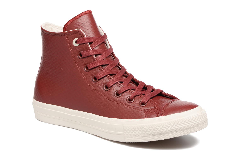 Baskets Converse Chuck Taylor All Star II Mesh-Backed Leather Hi M Bordeaux vue détail/paire