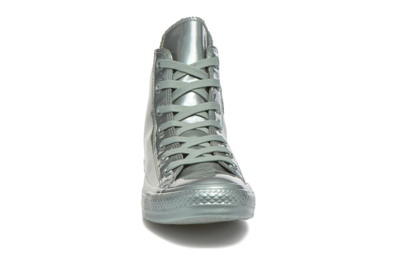 Baskets Converse Ctas Metallic Rubber Hi W Vert vue portées chaussures
