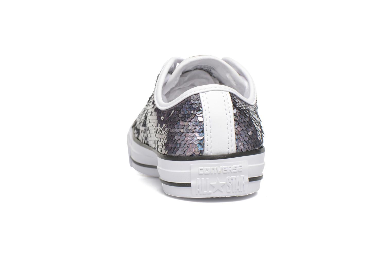 Sneaker Converse Chuck Taylor All Star Iridescent Sequin Ox W grau ansicht von rechts