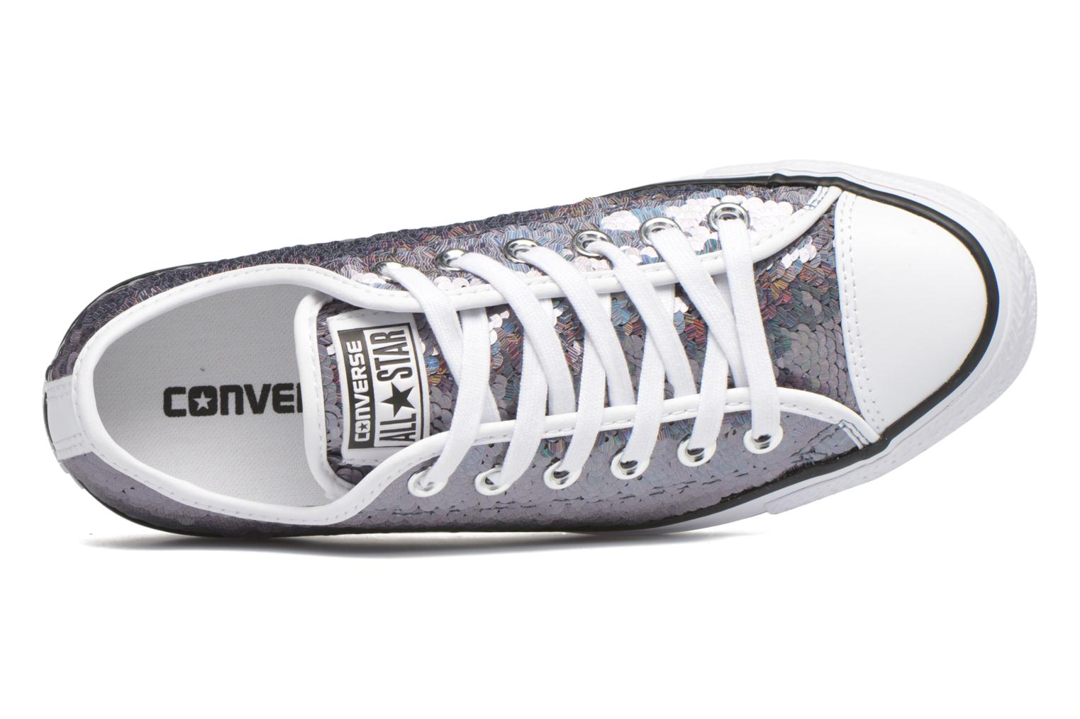 Sneakers Converse Chuck Taylor All Star Iridescent Sequin Ox W Grigio immagine sinistra