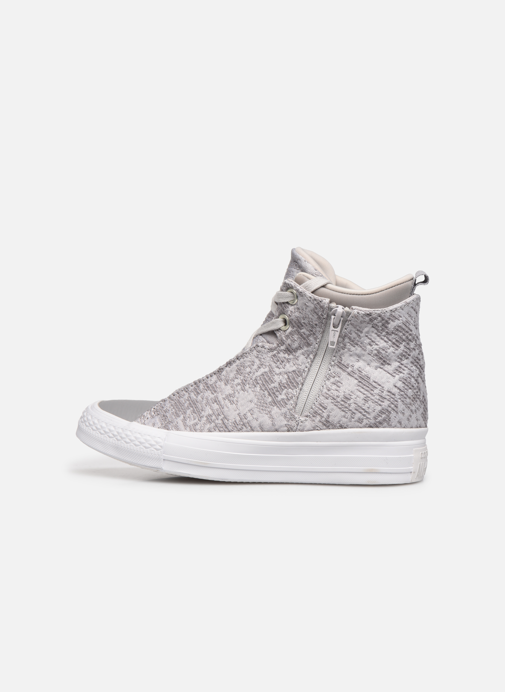 Sneakers Converse Ctas Selene Winter Knit Mid Bianco immagine frontale