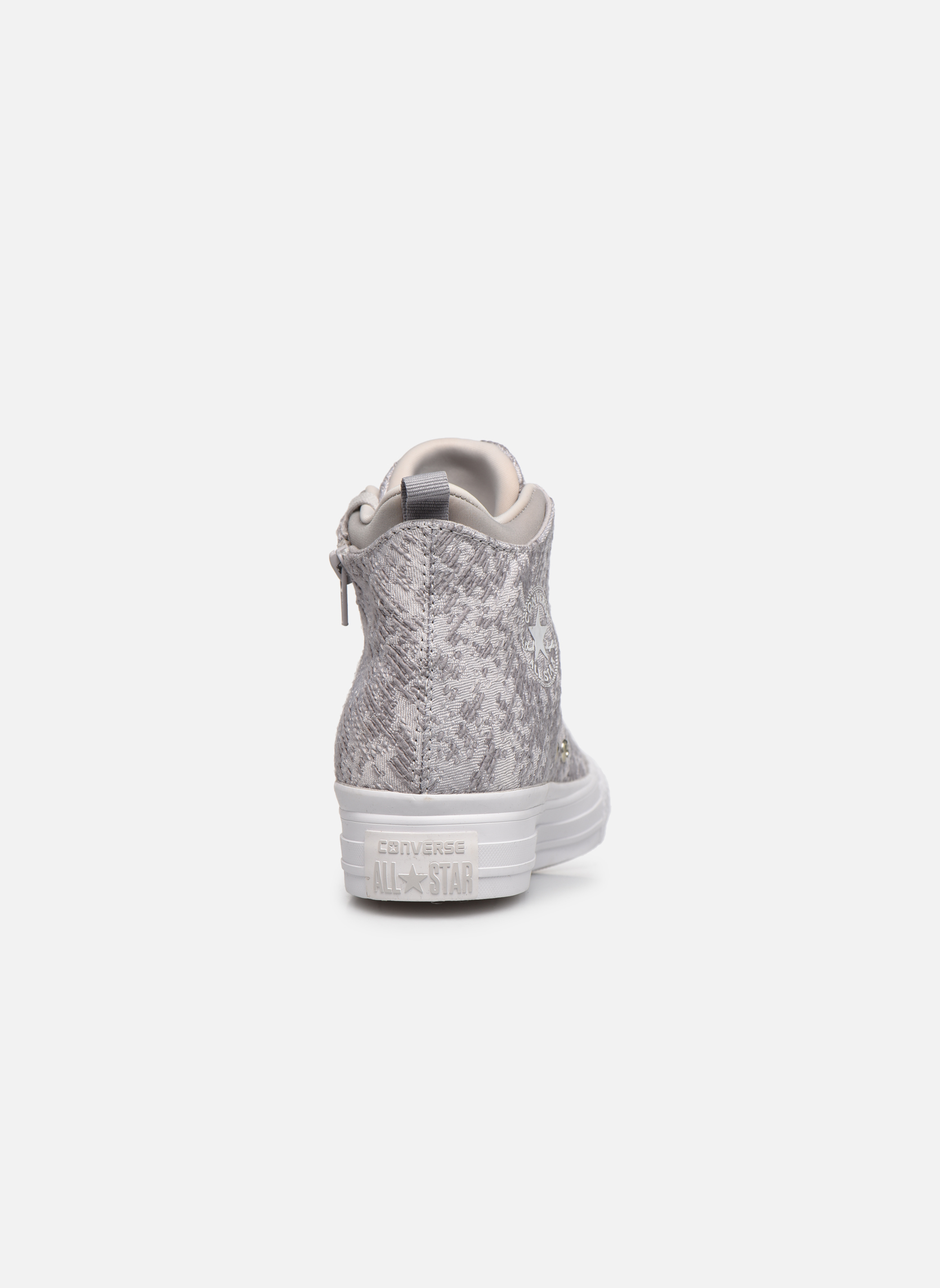 Sneakers Converse Ctas Selene Winter Knit Mid Bianco immagine destra