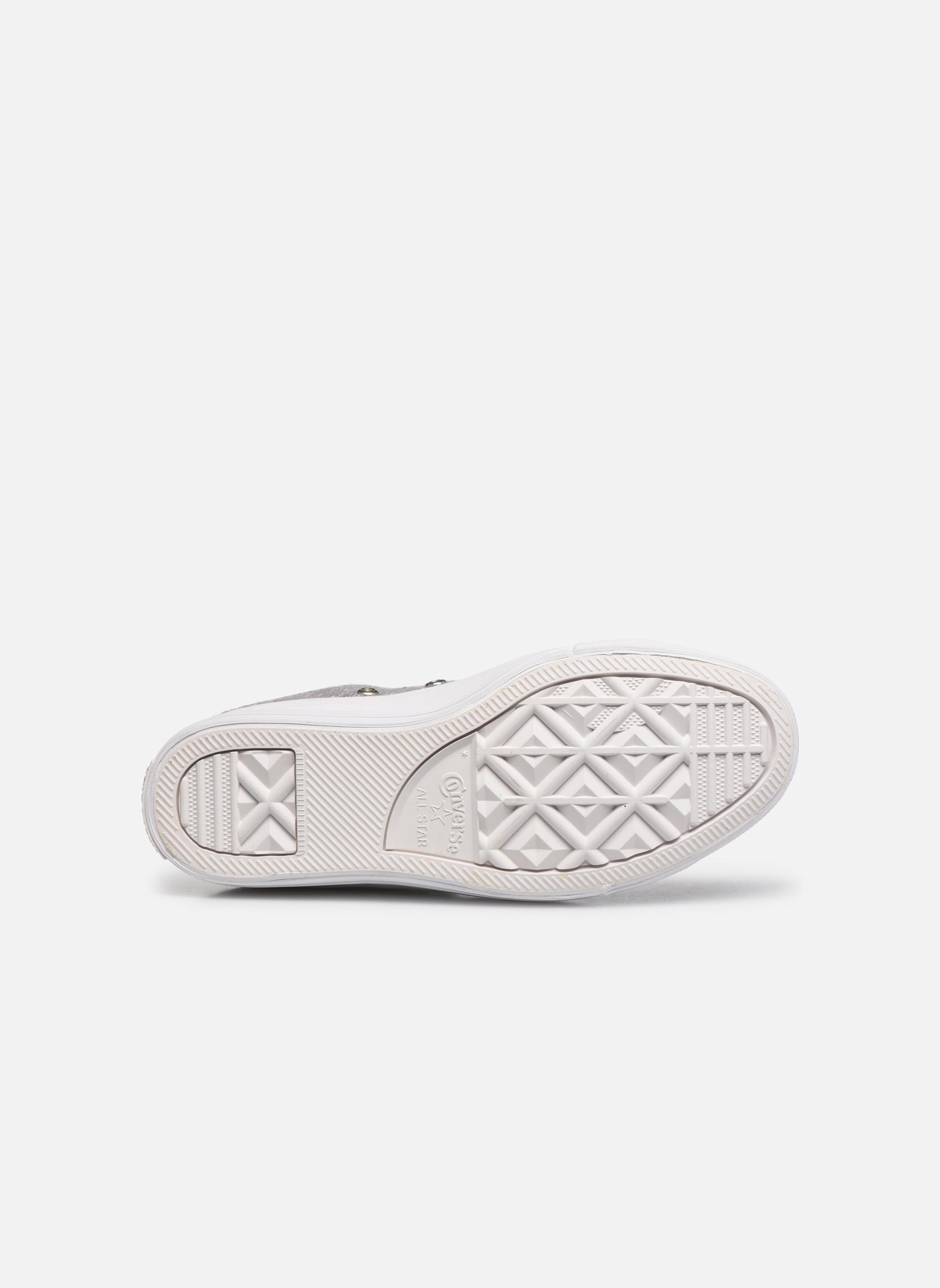 Sneakers Converse Ctas Selene Winter Knit Mid Bianco immagine dall'alto