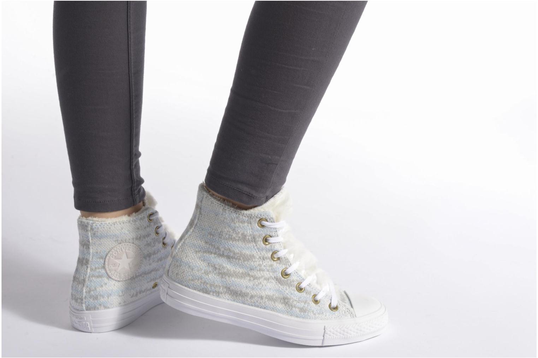 Baskets Converse Ctas Winter Knit+Fur Hi Noir vue bas / vue portée sac