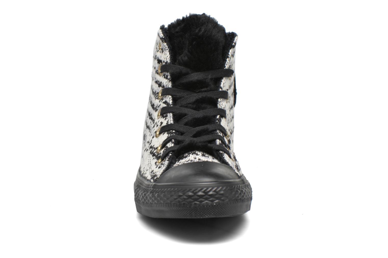 Baskets Converse Ctas Winter Knit+Fur Hi Noir vue portées chaussures