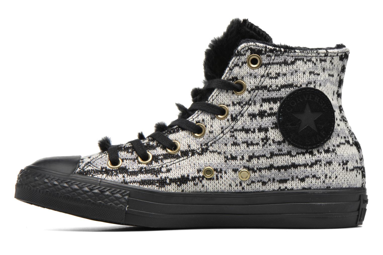 Baskets Converse Ctas Winter Knit+Fur Hi Noir vue face