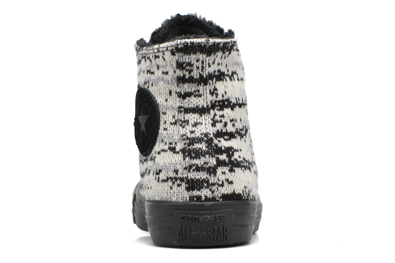 Baskets Converse Ctas Winter Knit+Fur Hi Noir vue droite